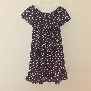 NWT Merona Polka Dot Off the Shoulder Ruffle Dress